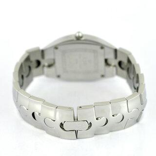 RSWラマスイスパズルレディース腕時計SS8010A文字盤黒クォーツラバー製ベルト付き【中古】【送料無料】