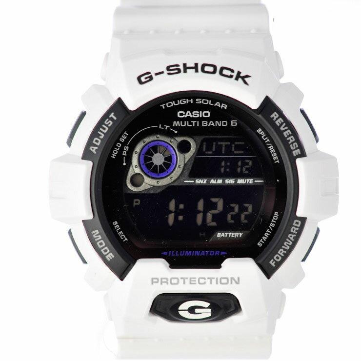 カシオ 腕時計 メンズ 樹脂 G-SHOCK GW-8900A-7JF 文字盤黒 ソーラー電波 白 【新品】【送料無料】
