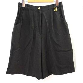 レオナールスポーツ キュロットスカート LEONARD SPORT 黒 サイズ:LL ボトムス レディース 【中古】
