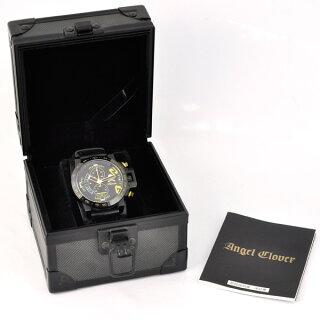 ロエンエンジェルクローバー腕時計コラボSSメンズRoenAngelCloverTC44文字盤黒クオーツ【中古】