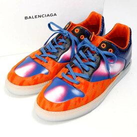 バレンシアガ スニーカー 358038 BALENCIAGA 青 オレンジ グラデーション メンズ サイズ:43 【中古】【送料無料】
