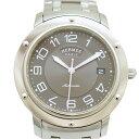 【キャッシュレス5%還元】エルメス 腕時計 クリッパー SS メンズ CL2.810 HERMES 文字盤グレー オートマ 【中古】【送料無料】