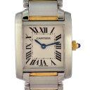 カルティエ レディース腕時計 タンクフランセーズ W51007Q4 Cartier 文字盤ベージュ K18×SS クオーツ 【中古】【送料無料】【美品】