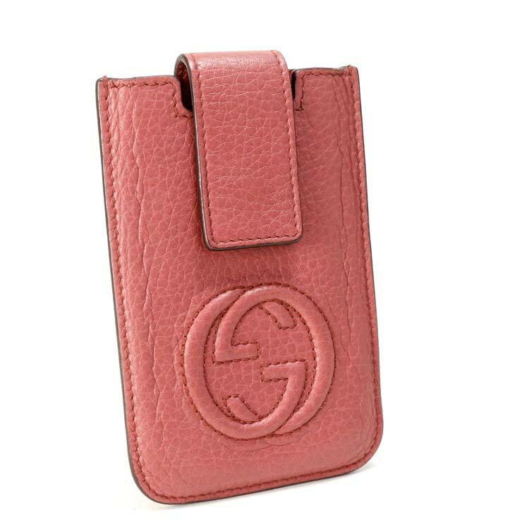 【中古】グッチ iPhone4ケース 305996 GUCCI ピンク レディース IQOSケース 煙草 スマホ 携帯 アイフォン 【送料無料】【美品】