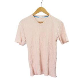 ランバンオンブルー カットソー メンズ LANVIN en bleu ピンク 半袖 サイズ50 【中古】