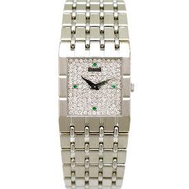 【キャッシュレス5%還元】【中古】ピアジェ メンズ腕時計 K18WG 750刻印 ダイヤモンド 4Pサファイア 手巻き 9131K51 PIAGET [送料無料]