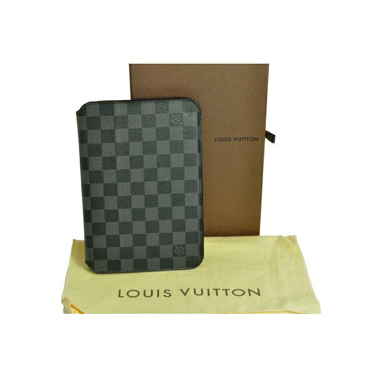 [中古]ルイヴィトン iPadケース N48249 ダミエグラフィット LOUIS VUITTON [送料無料]