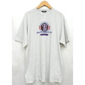 【中古】バレンシアガ 半袖Tシャツ メンズ プリント グレー サイズS BALENCIAGA 【美品】【送料無料】