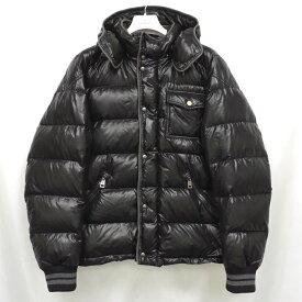 【中古】モンクレール ダウンジャケット メンズ ブラック フード取り外し可 サイズ4 MONCLER 【送料無料】