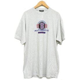 【キャッシュレス5%還元】【中古】バレンシアガ 半袖Tシャツ メンズ プリント グレー サイズS BALENCIAGA 【美品】【送料無料】