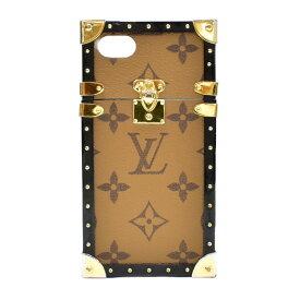 【キャッシュレス5%還元】【中古】ルイヴィトン iPhone7ケース アイトランク モノグラムリバース M64484 LOUIS VUITTON [送料無料]