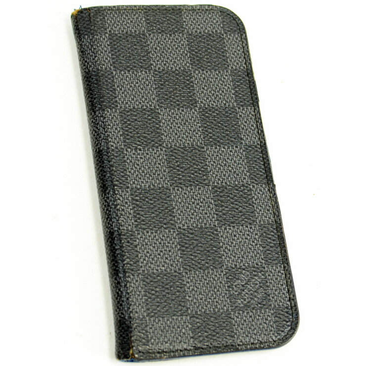 【中古】ルイヴィトン iPhone6ケース ダミエグラフィット ブラック×ブルー LOUIS VUITTON[送料無料]