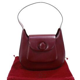 2618c960d6a5 【中古】カルティエ ショルダーバッグ マストライン ボルドー ワンショルダー レザー Cartier [送料無料