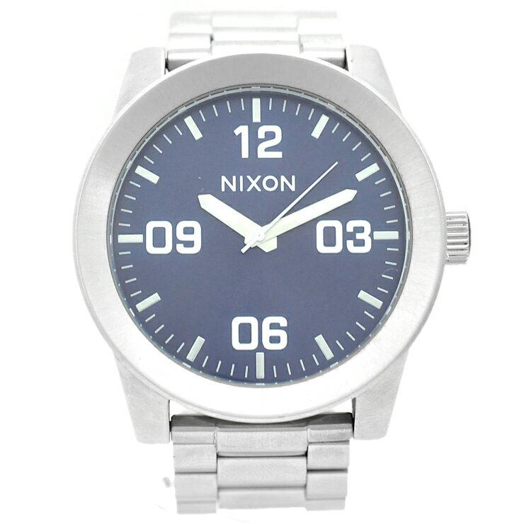 【中古】ニクソン メンズ 腕時計 クオーツ ステンレススチール THE CORPORAL 青文字盤 NIXON