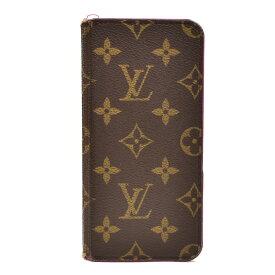 【キャッシュレス5%還元】[中古]ルイヴィトン フォリオ iPhone6Plusケース M61634 モノグラム ブラウン×ローズ レディース LOUIS VUITTON