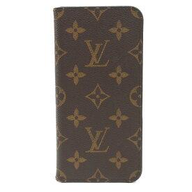 【キャッシュレス5%還元】[中古]ルイヴィトン フォリオ iPhone8Plusケース M61905 モノグラム 手帳型 ブラウン LOUIS VUITTON [送料無料]