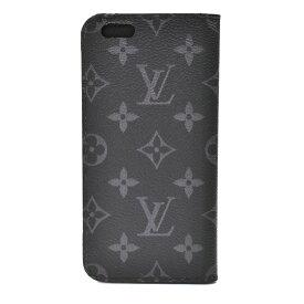 [中古]ルイヴィトン フォリオ iPhone6Plusケース M61700 モノグラムエクリプス キャンバス ブラック ユニセックス LOUIS VUITTON FOLIO [送料無料]