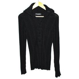 【中古】ドルチェ&ガッバーナ セーター メンズ カシミヤ ブラック サイズ44 DOLCE&GABBANA [送料無料]