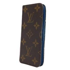 【中古】ルイヴィトン iPhone6ケース フォリオ 手帳型 M51146 モノグラム ブラウン ブルー LOUIS VUITTON
