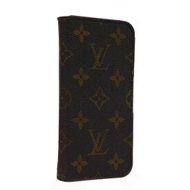 【中古】ルイウ゛ィトン Iphoneケース スマホケース スマホカバー モノグラム ブラウン イニシャル入 Louis Vuitton