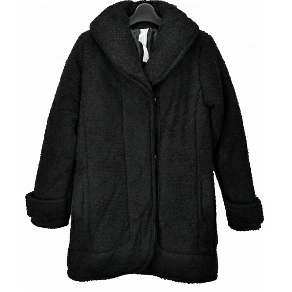 MURUA/ムルーア/レディース/ツイードダウンコート/ブラック アウター 長袖 中綿 ダブルジップ 防寒 サイズ:F 【中古】