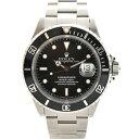 【中古】ロレックス サブマリーナデイト メンズ 腕時計 自動巻き ステンレススチール 黒文字盤 16610 ROLEX [送料無料]
