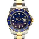 【キャッシュレス5%還元】【中古】ロレックス サブマリーナ 8Pダイヤ 腕時計 メンズ 自動巻き SS×YG ブルー 116613GLB コンビ G番 RO…