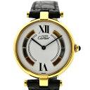 【中古】カルティエ マスト ヴェルメイユ レディース 腕時計 クオーツ SV925×革 白文字盤 590003 Cartier [送料無料]