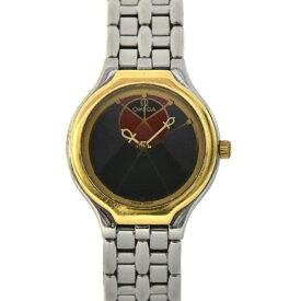 【中古】オメガ デビル シンボル レディース 腕時計 クオーツ ステンレススチール×イエローゴールド×シンボル文字盤 コンビ 595.0101 OMEGA [送料無料][美品]
