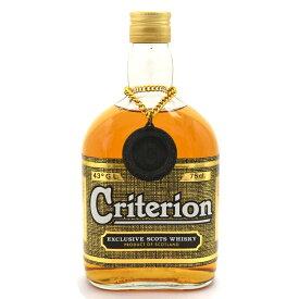 【中古】ウイスキー クリテリオン オールドボトル 特級 モルト・グレーン スコッチ SCOTCHWHISKY 750ml 43度 Criterion [送料無料][未開栓]