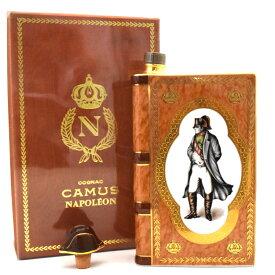 【中古】ブランデー カミュ ナポレオンブック 陶器 コニャック COGNAC NAPOLE'ON 700ml 40度 ブラウン×ゴールド CAMUS [送料無料][未開栓]