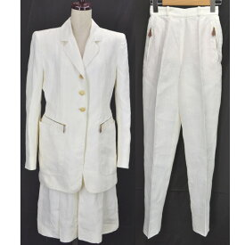 【キャッシュレス5%還元】エルメス レディース スーツ3点セット ホワイト サイズ:38 HERMES 【中古】【送料無料】
