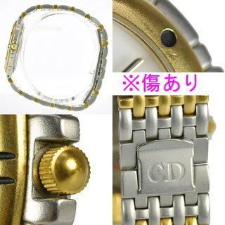 ChristianDiorクリスチャンディオールメンズ腕時計コンビカラークオーツ【中古】【送料無料】
