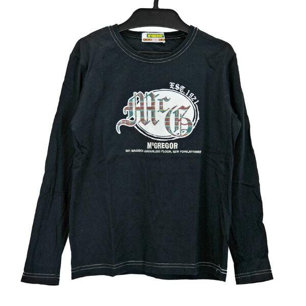 マクレガー/MCGREGOR/子ども服/長袖Tシャツ/黒 トップス サイズ140 【中古】