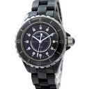 シャネル 腕時計 J12 H1625 CHANEL 12P ダイヤ ブラック クォーツ レディース  【中古】【送料無料】