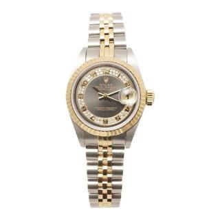 【キャッシュレス5%還元】【中古】ロレックスレディース腕時計デイトジャスト79173MAP番SS×YG自動巻きミリヤード文字盤ROLEX[送料無料]