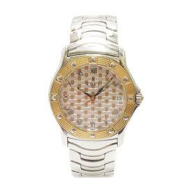 【中古】エベル 腕時計 ドレスウェーブ SS メンズ E6187942 文字盤ゴールド シルバー クオーツ EBEL[送料無料]