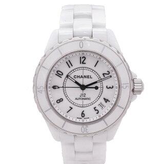 【キャッシュレス5%還元】【中古】シャネルJ12メンズ腕時計自動巻きセラミック38mm白文字盤H0970CHANEL[送料無料]