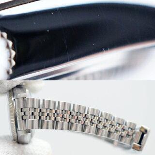 【中古】ロレックスデイトジャストレディース腕時計79174A番自動巻き黒文字盤ROLEX[送料無料]