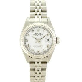 【キャッシュレス5%還元】ロレックス レディース腕時計 デイトジャスト 79174 F番 ROLEX SS×WG 自動巻き ホワイト文字盤【中古】【送料無料】」
