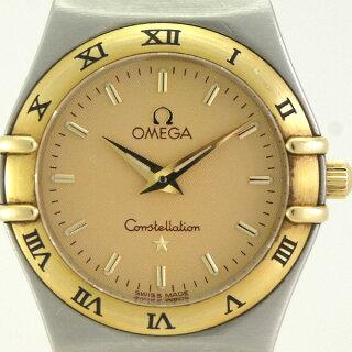 オメガレディース腕時計コンステレーション1362.10OMEGASS×YGクオーツゴールド文字盤【中古】【送料無料】