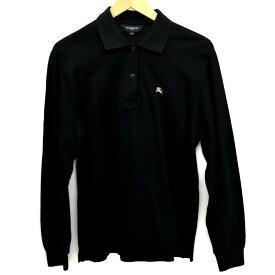 【中古】バーバリーゴルフ 長袖ポロシャツ メンズ ブラック サイズ:L BURBERRY GOLF