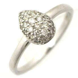 【中古】リング K18WG ダイヤモンド0.25ct 重量2.6g サイズ13号 レディース ジュエリー [送料無料][美品]