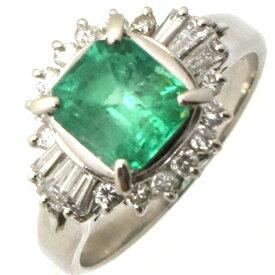 【中古】ジュエリーマキ リング Pt850 エメラルド1.7ct ダイヤモンド 0.59ct 重量6.5g サイズ13号 レディース ジュエリー Jewelry MAKI送料無料][美品]