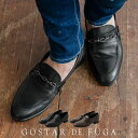"""【2020 A/W新作】""""GOSTAR DE FUGA【ゴスタールジフーガ】チェーンレザーローファー/全2色""""【日本製】シューズ 靴 短靴…"""