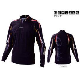 ≪'21年2月新商品!≫ がまかつ ストレッチロングスリーブシャツ GM-3625 ブラック Lサイズ