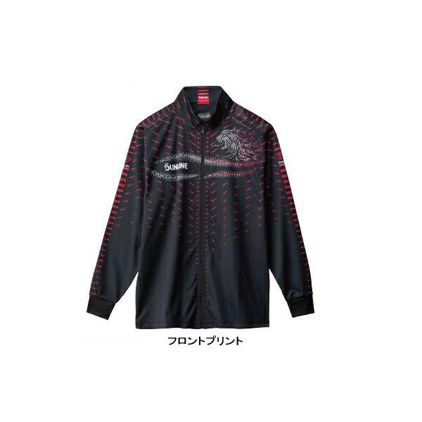 ≪'18年10月新商品!≫ サンライン フルジップアップシャツ SUW-5568HT ブラック LLサイズ