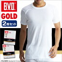 B.V.D.GOLD 2枚セット 丸首半袖シャツ(M,L)【BVD直営】/ギフト/メンズ 【コンビニ受取対応商品】