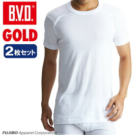B.V.D.GOLD 2枚セット 丸首半袖シャツ(LL)【BVD直営】/ギフト/メンズ 【コンビニ受取対応商品】