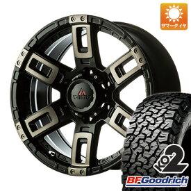 タイヤはフジ 送料無料 MCLIMB エムクライム カノン 8J 8.00-17 BFG BFグッドリッチ オールテレーンT/A KO2 RWL/RBL 265/70R17 17インチ サマータイヤ ホイール4本セット